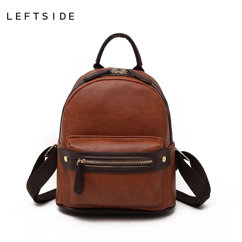 LEFTSIDE Fashion Women Small Backpack 2018 High Quality Youth PU Leather  Backpacks For Teenage Girls Female School Mini Bagpack Best Backpack  Designer ... 1a261381561dc