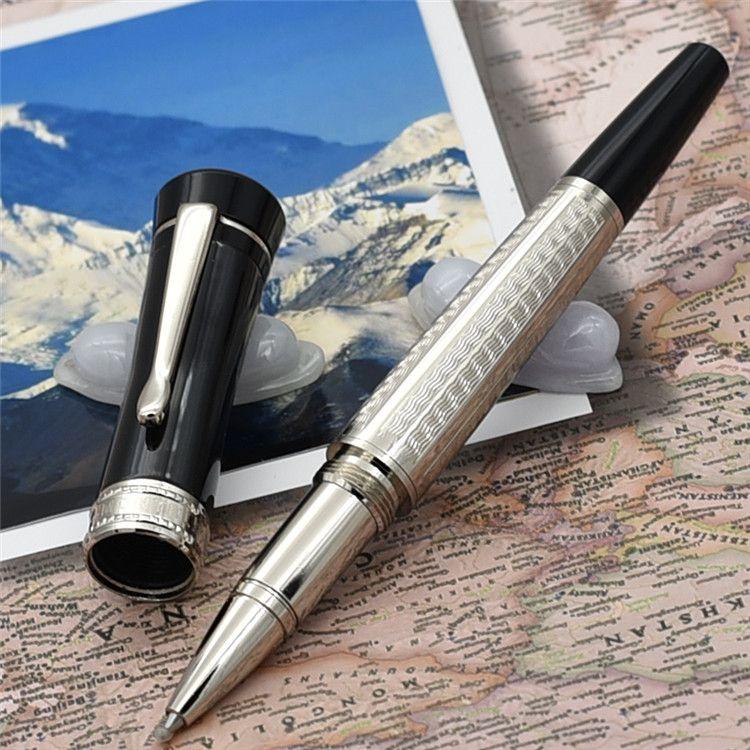 Marca de luxo caneta sorte estrela da série Único design roller ball caneta / Caneta Esferográfica feita de alto grau branco resina escritório escola oferta presente pe