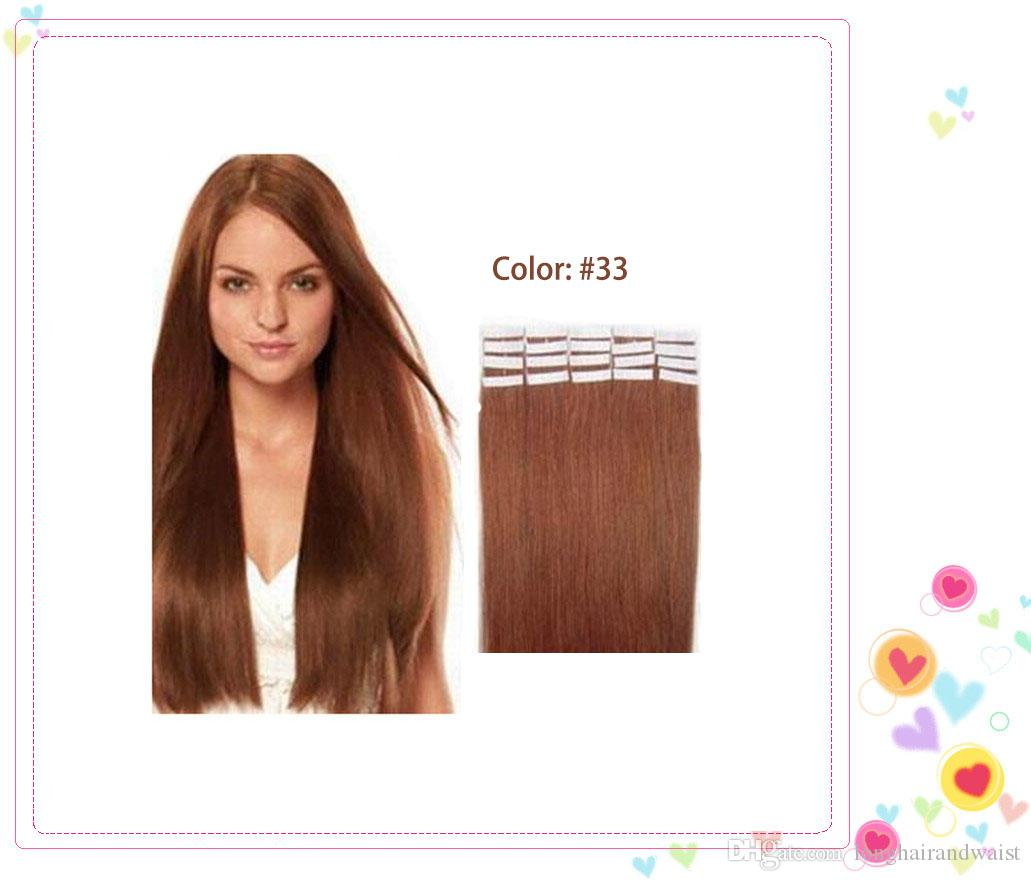 Wholesale 16 22 Skin Weft Tape In Hair Extension Straight 100 Human