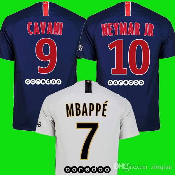 Acheter S 3XL PSG Jersey 18 19 MBAPPE Neymar JR Maillots De Football Paris  Jersey 2018 2019 DANI ALVES CAVANI Maillot DI MARIA Maillot De Pied  VERRATTI ... 5280b0012