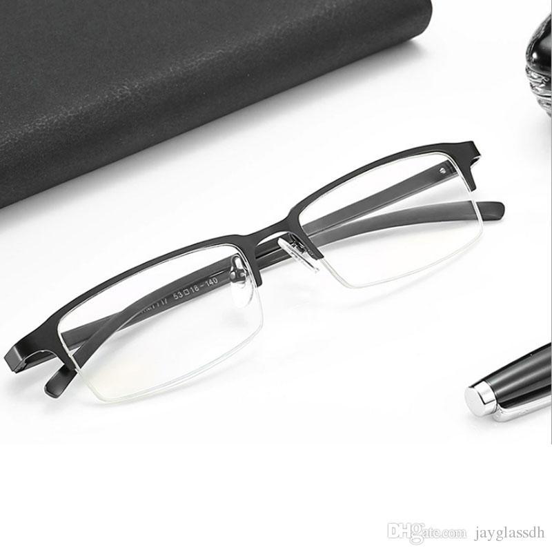 3b8329ec9c Men Bussiness Optical Glasses Frame Blue Light Filter Computer Eyeglasses  Anti Radiation Goggles Spectacle Frames Square Metal Sunglasses Uk  Polarised ...