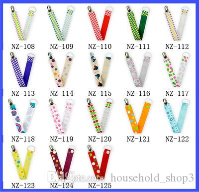 20 X PACIFIER HOLDER BABY BORN DUMMY CLIP CHAIN STRAP SOOTHER CLIPS DUMMIES