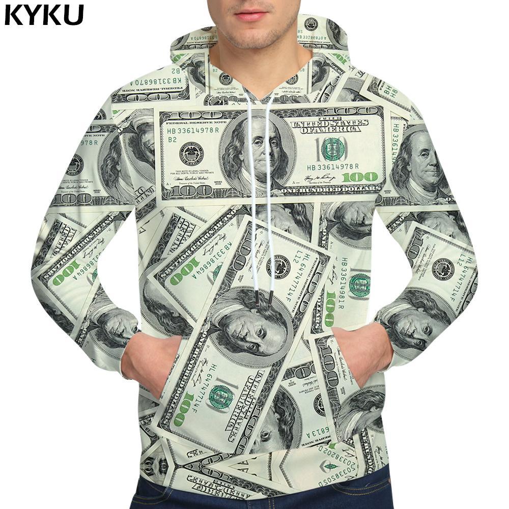 Compre KYKU Marca Dólares Sudaderas Sudaderas Dinero Sudadera Divertida  Sudaderas Con Capucha Hip Hop Sudadera Con Capucha Hombres Cool 2018 Hoody  D18100703 ... 3562c8523b0