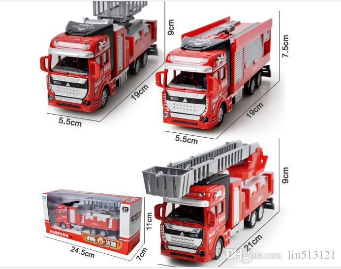 1:48 Scale Diecast Metal Alloy Car Model Pull Back Toys Car Model Alloy Car 1:48 Military Engineering Firefighting City 15 Styles