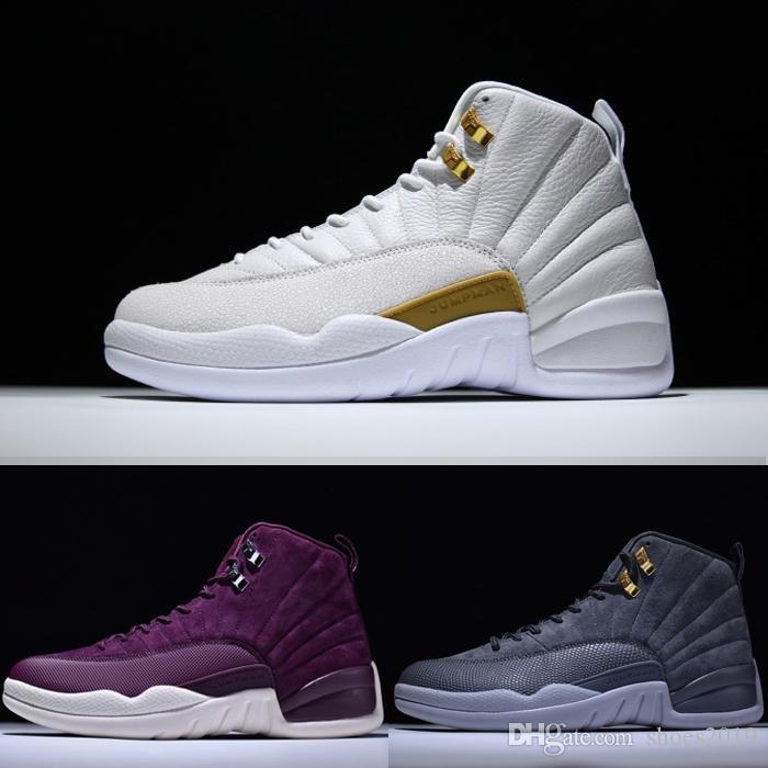 e1c3d22e829 High Quality Men Women Basketball Shoes 12 12s OVO White Gym Red ...