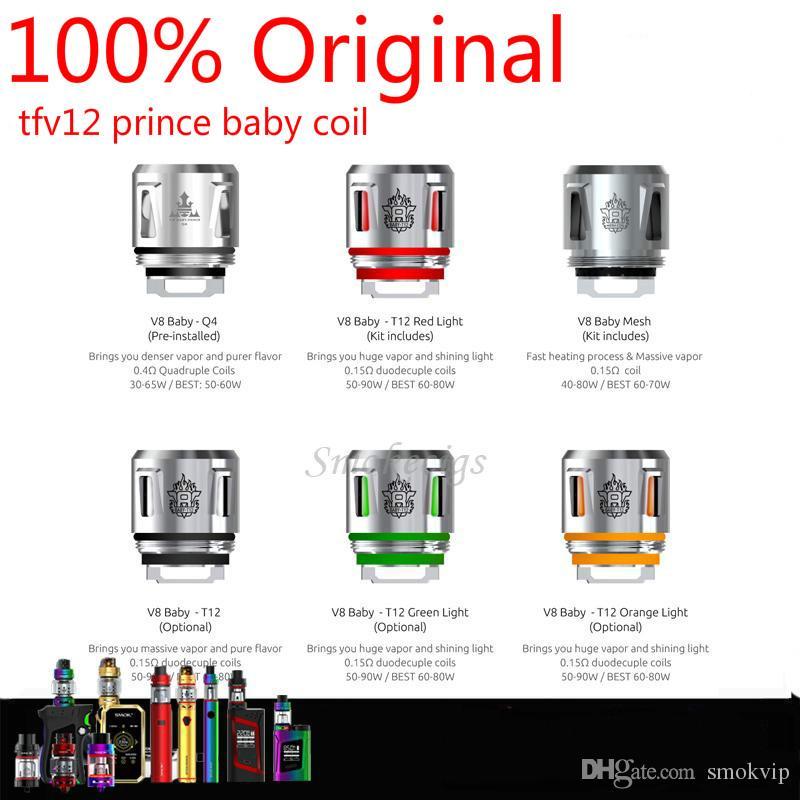 Compre 100% Original V8 Baby Coil Head V8 Baby T12 Luz Roja T12 Luz ...