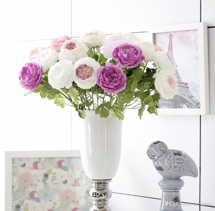2018 Bulk 45*9cm European Rose Silk Fake Flowers Bridal Bouquets ...