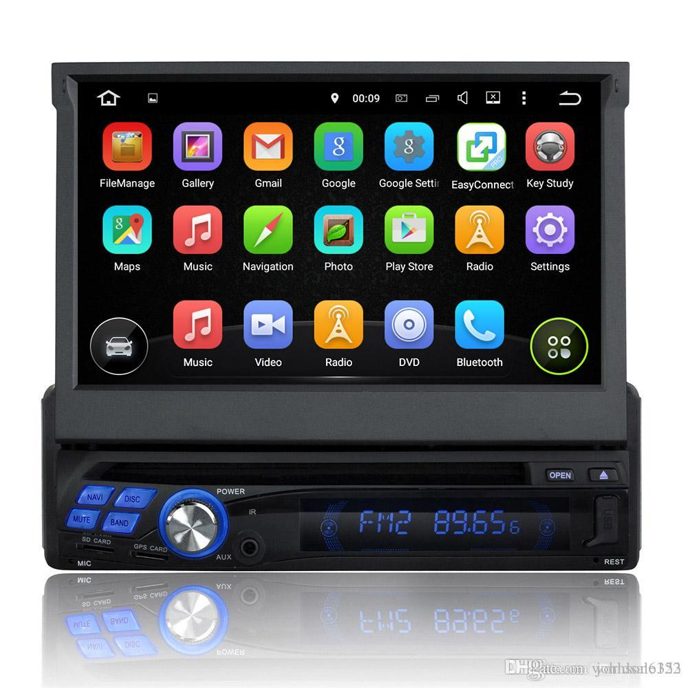 7 39 39 universal single din android 7 1 radio audio car dvd. Black Bedroom Furniture Sets. Home Design Ideas