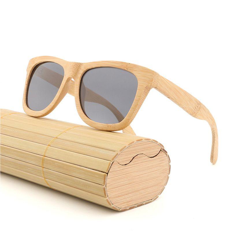 8c32e464b09 Bamboo Sunglasses Polarized Handmade Vintage Wooden Sun Glasses For ...