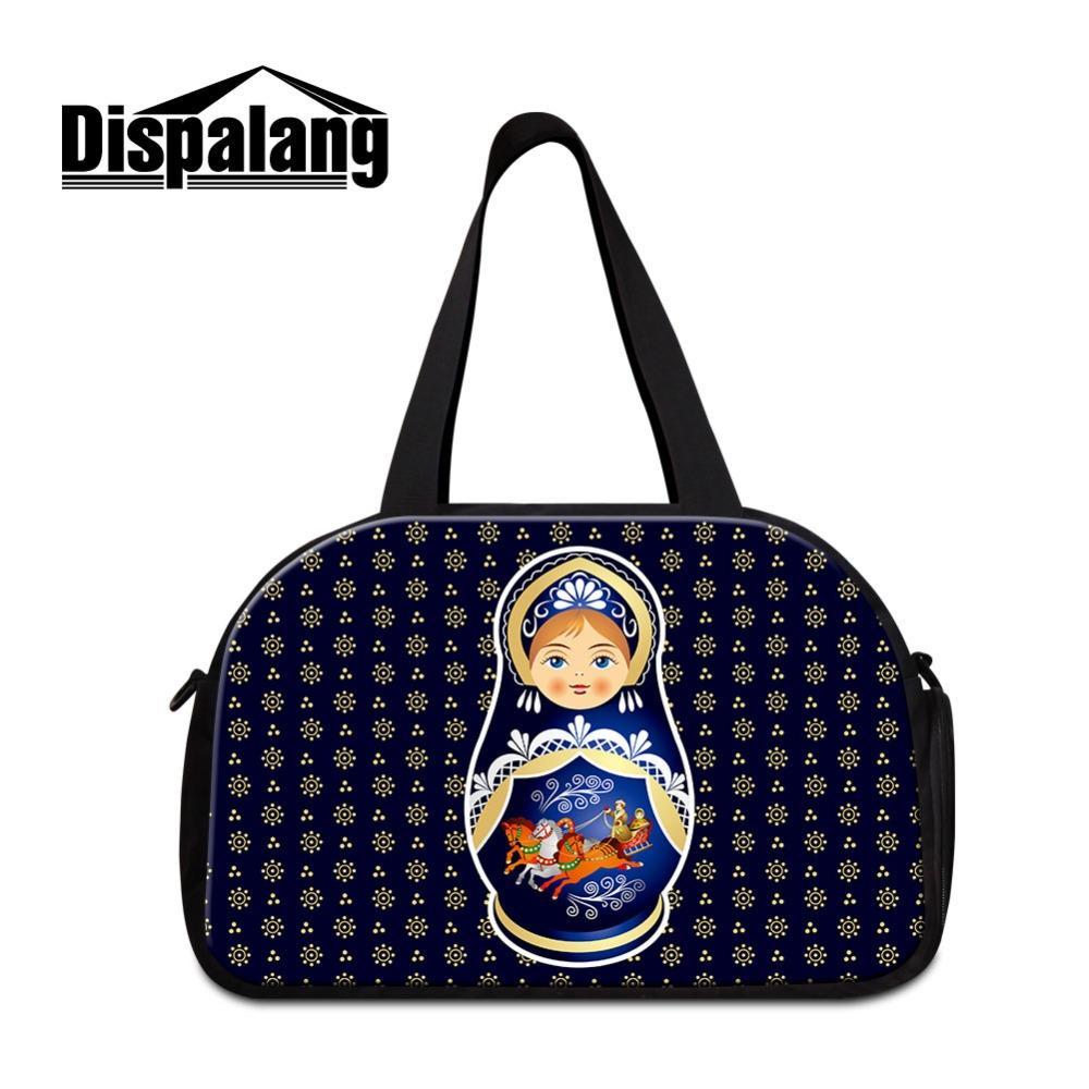 Russian Doll Print Shoulder Travel Bag for