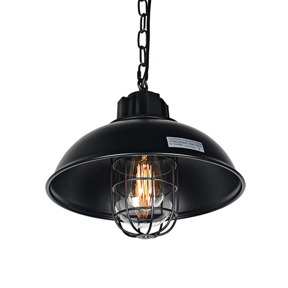 2018 1 Light Industrial Pendant Light, Metal Dome Shaped Retro ...