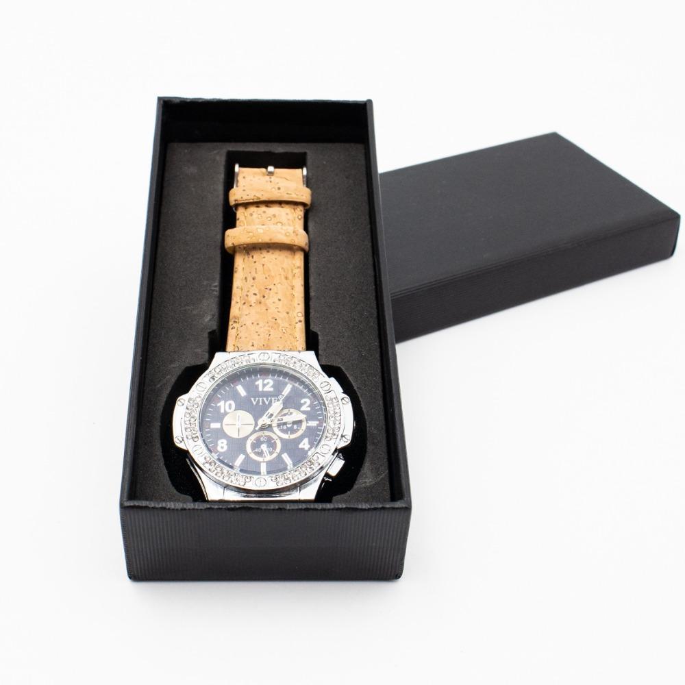 849b496d4ec Compre Relógio De Cortiça. Pulseira De Cortiça Natural Com Relógios Unisex  Cor Azul Brilhante