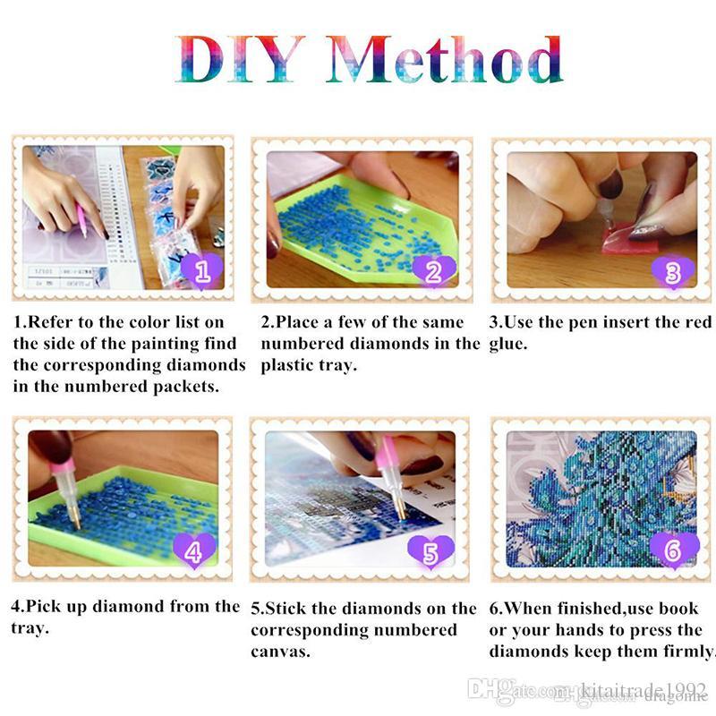 Dragón diy kit de pintura diamante 5D DIY punto de cruz bordado lleno de diamantes 3D Diamond mosaico pintura regalos de navidad decoración para el hogar