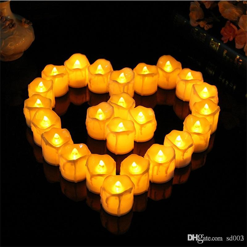 Led Light Bougie Holiday Party Decorative Electronic Candle For
