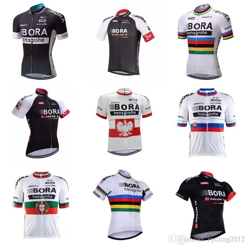 4a5246435 Satın Al Bora Bisiklet Jersey 2018 Maillot Sadece Gömlek Kısa Kollu Ropa  Ciclismo Hombre Bisiklet Bisiklet Giyim Camisa De Ciclismo C1903