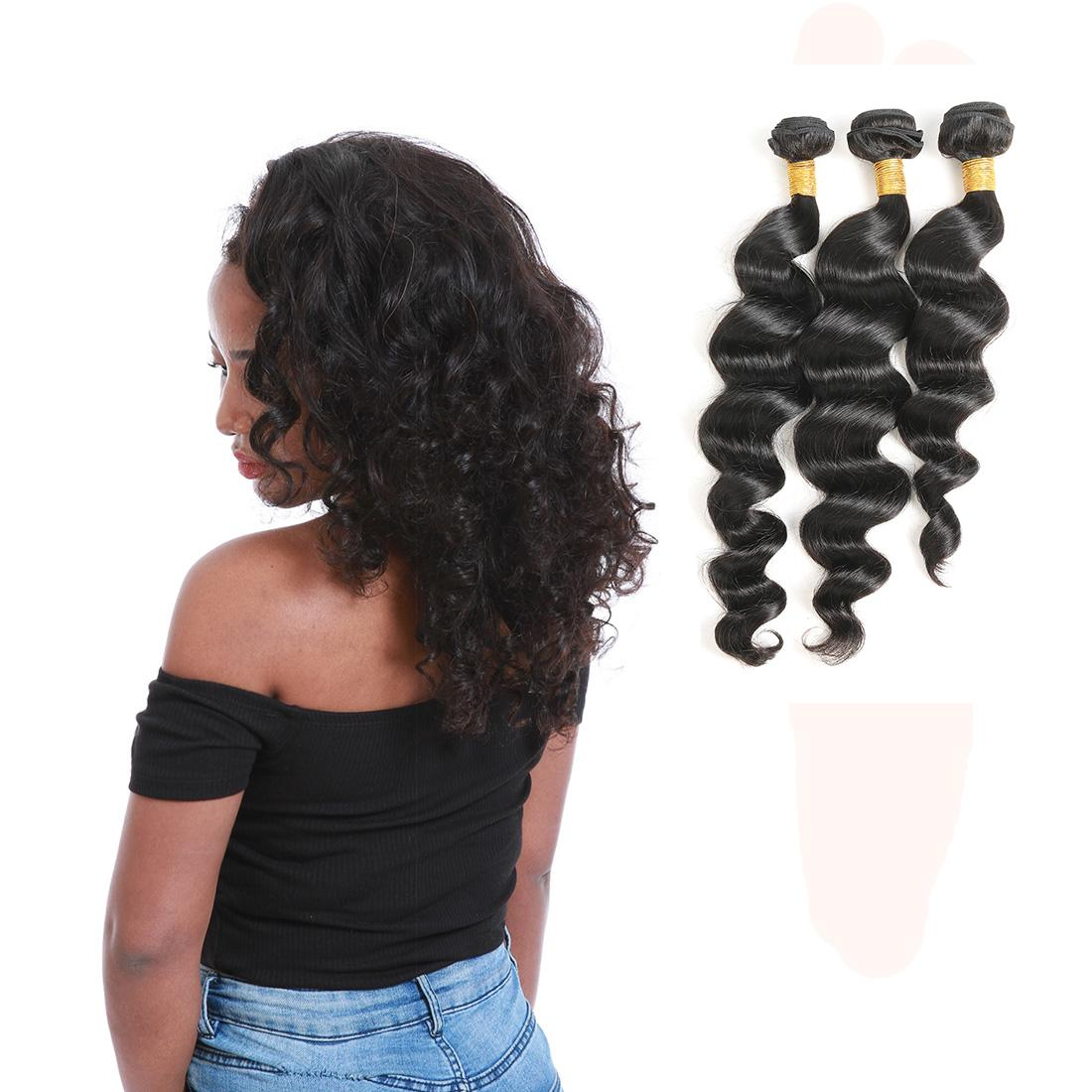 Brazilian Virgin Cuticle Aligned Hair Extension Deep Wave Bundles