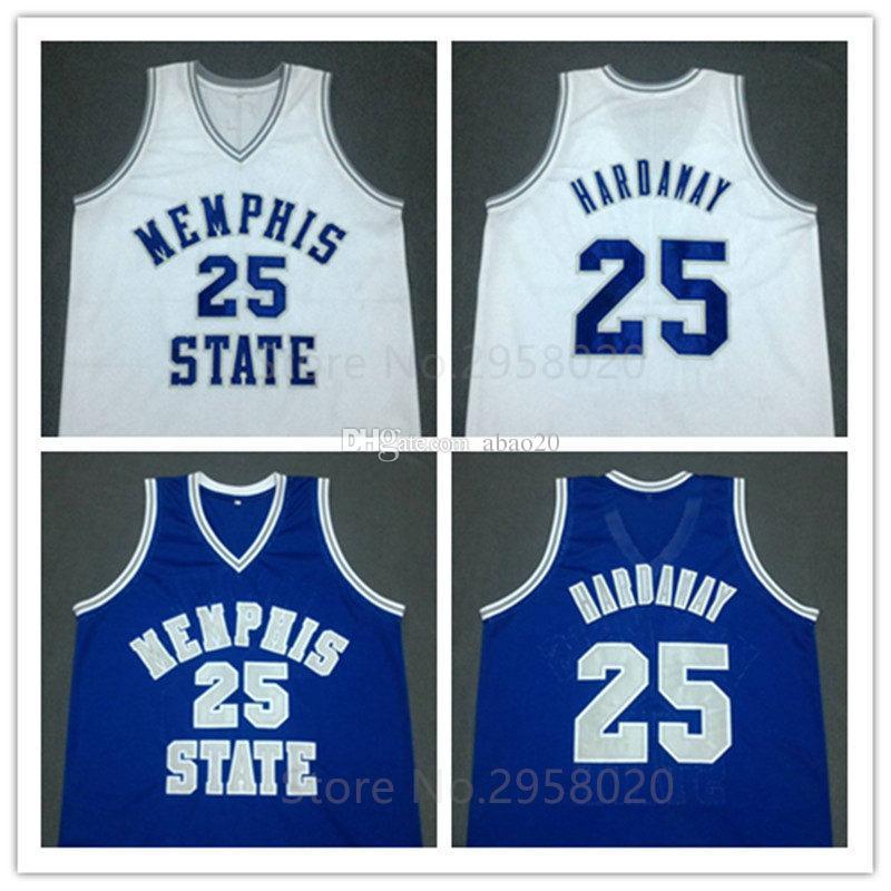 2019 Penny Hardaway Memphis State Basketball Jersey Men S White Blue