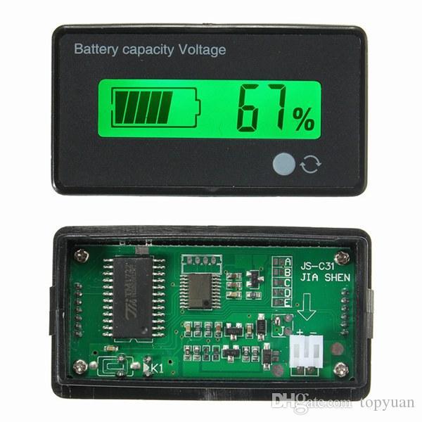 8-70V 12V 24V 36V 48V LCD Acid Lead Battery Capacity Voltmeter Voltage Tester