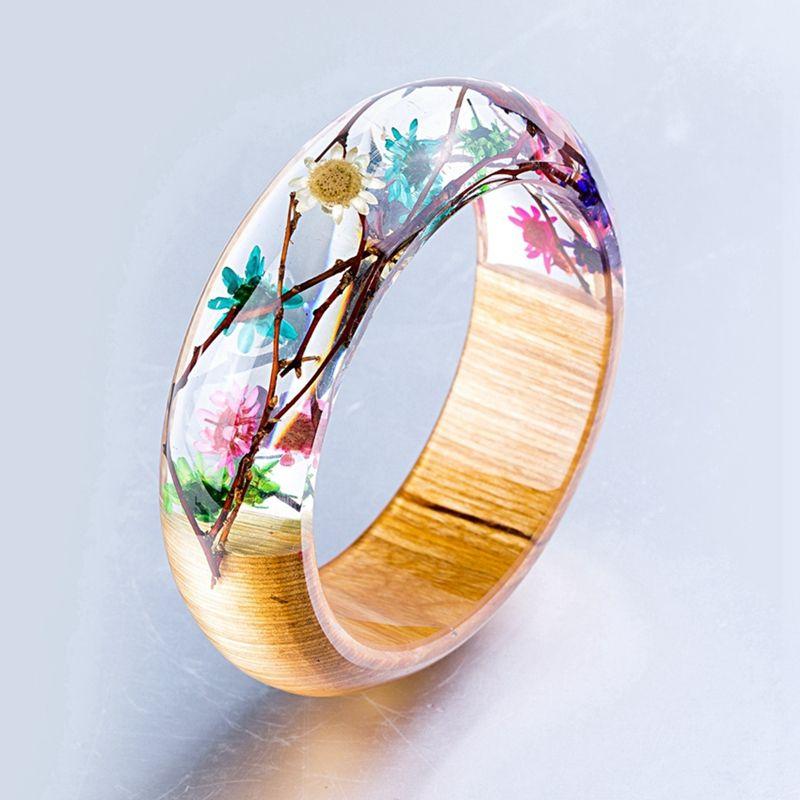 Wood And Resin Bracelets Amp Bangles For Women Transparent