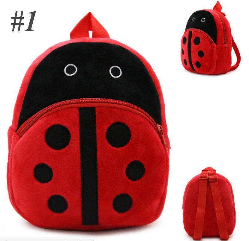 High Quality New Baby Super Mario Bros Pikachu Totoro Captain America Mimi School Bag Plush Backpacks Baby gifts 21*23.5cm multicolors