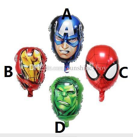 Festival de décoration Les Avengers Foil ballons super-héros hulk homme Captain America Ironman spiderman Enfants jouets classiques ballon d'hélium