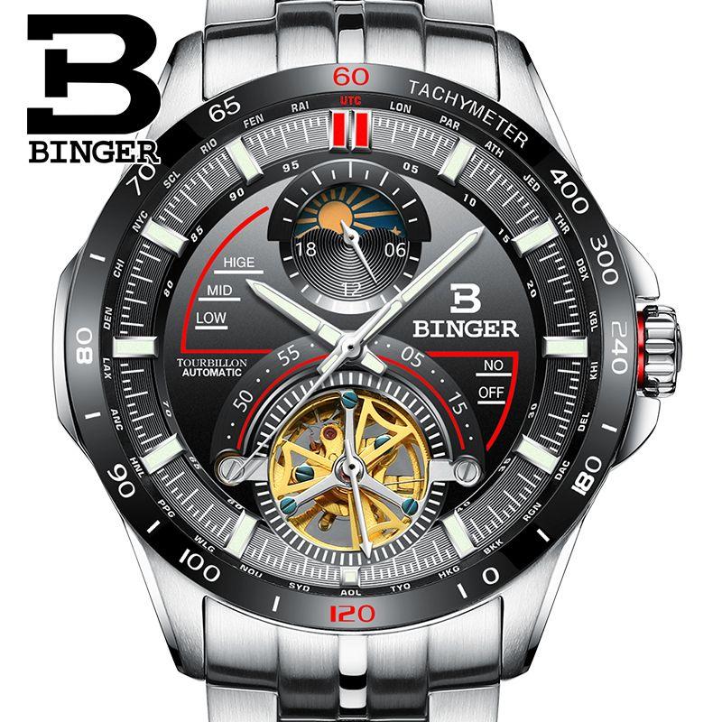 Compre Suiza BINGER Reloj Hombres Marca De Lujo Relojes Para Hombre  Tourbillon Reloj Mecánico Automático Sapphire Reloj Hombre B MS10001G 2  S917 A  140.11 ... cf6b5e5f9b5f