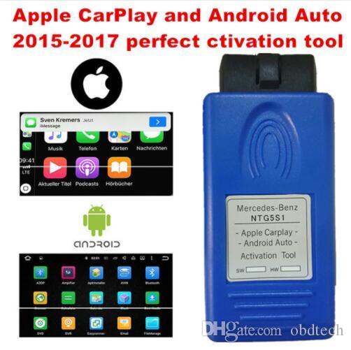 Apple CarPlay e Android Auto ferramenta de ativação para Mercedes-Benz NTG5  S1 maneira mais segura de usar o seu iPhone / Android Phone no carro