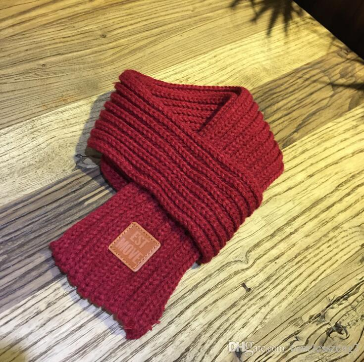 Nice warm women scarf girls comfortable knitted solid color scarf woolen yarn neckerchief autumn winter scarves