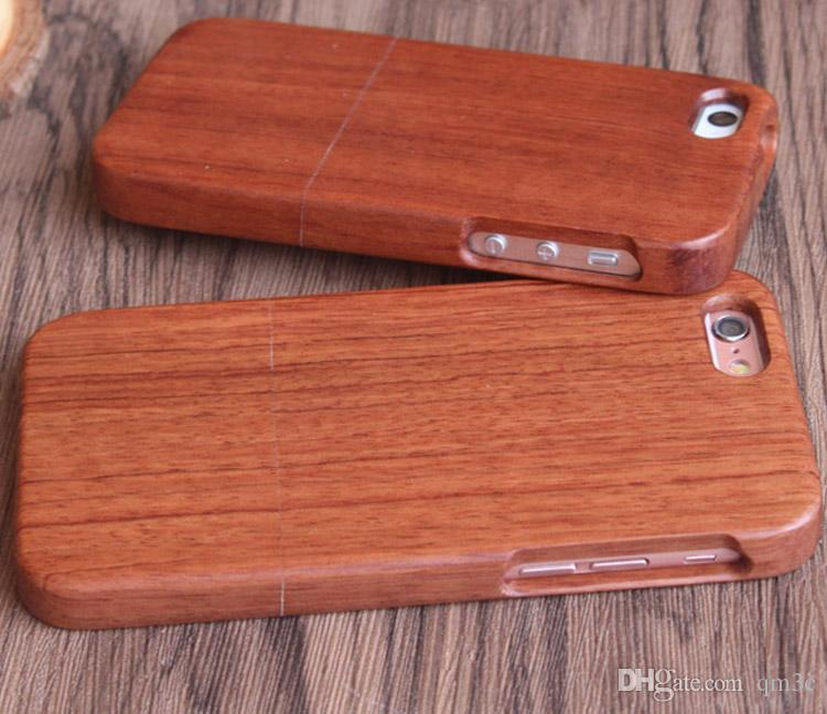Fashion Design Wood Case For Iphone 7 8 Plus X 10 5 5s 6 6s Natural Wooden Bamboo Mobile Phone Cover Cases For Samsung Galaxy S9 S8 S7 Note8 Make Your Own
