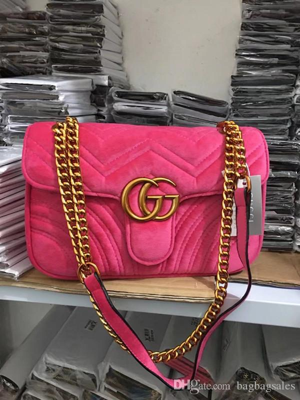 Hot Sale! New Style G Velvet Leather Single Shoulder Bag Shoulder ... 1a56051de696e