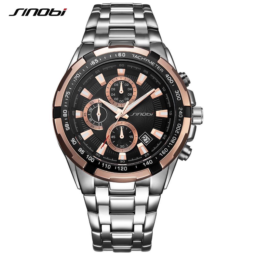 1ac642d444f Großhandel Sinobi Relogio Masculino Chronograph Herrenuhren Top Marke Luxus  Fashion Business Quarzuhr Mann Sport Wasserdichte Armbanduhr Von  Jh2074913610