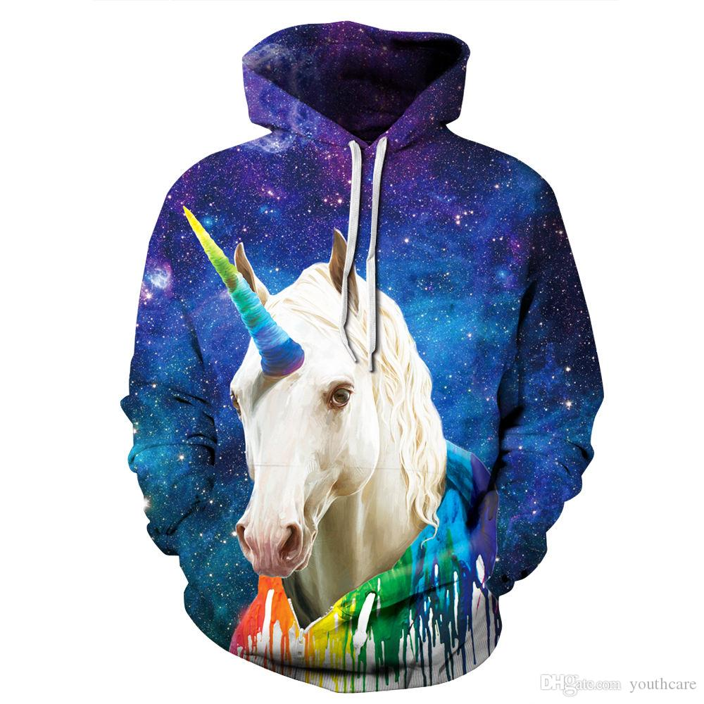 dbacd3565d3f 2019 Youthcare Hoodie For Men And Women 3D Printed Fly Horse Hoodie  Oversize Pullover Long Sleeve Tops Sweater From Youthcare
