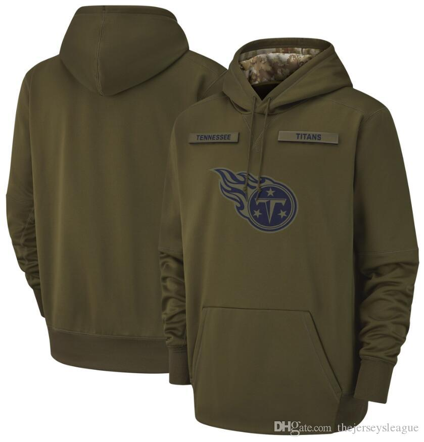 e79fa3618 2019 2018 Men Tennessee Sweatshirt Titans Salute To Service Sideline Therma  Performance Pullover Hoodie Olive From Thejerseysleague, $25.39 | DHgate.Com