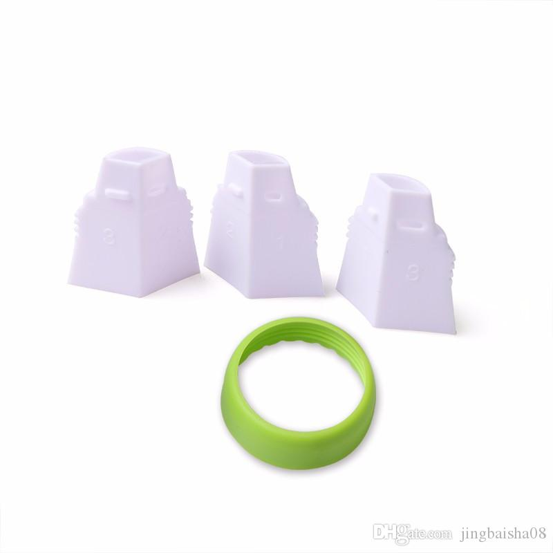 3 Holes Tri-color Cream Coupler Cake Decorating Tools Icing Piping Pastry Bag Nozzle Converter Cupcake Fondant Cookie Dessert