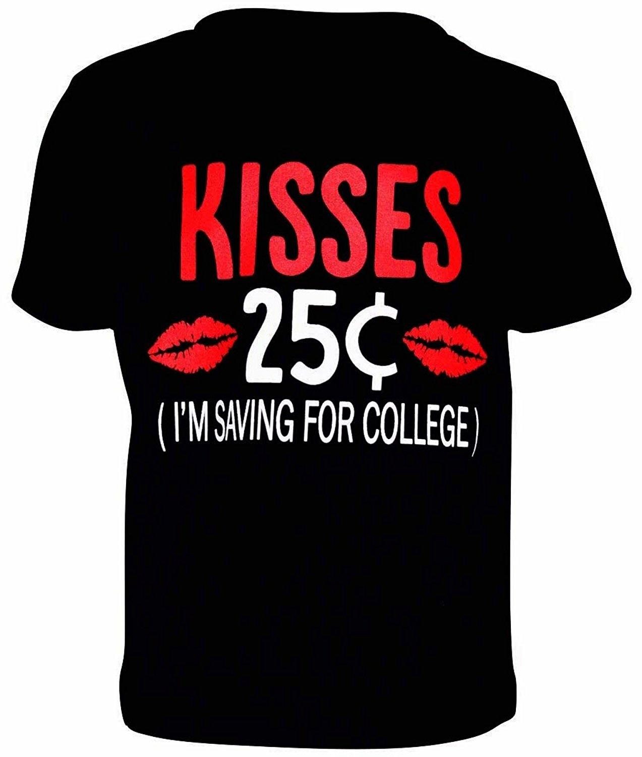 Unique Baby Boys 25 Cent Kisse Valentines Day Shirt Funny Offensive