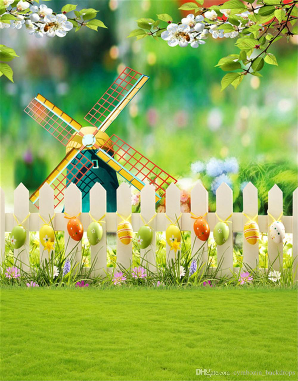 2019 Happy Easter Eggs Photography Backdrops Printed