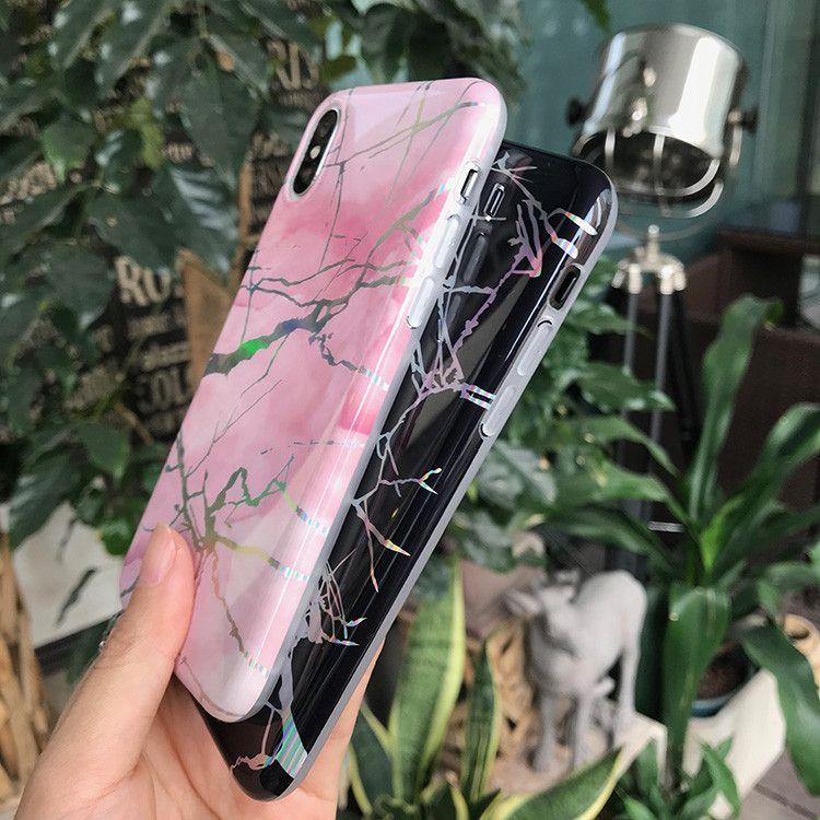 Housse en TPU Hologram Marbre pour iPhone 11 XS Max XR X 7 8 Plus Samsung S10 Note 10 Pro Huawei P30 Lite