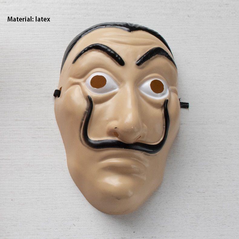 Salvador Dali Película Disfraz Dinero Heist La Casa de Papel La Casa De Papel Cosplay Disfraces de Halloween Fiesta, máscara de regalo