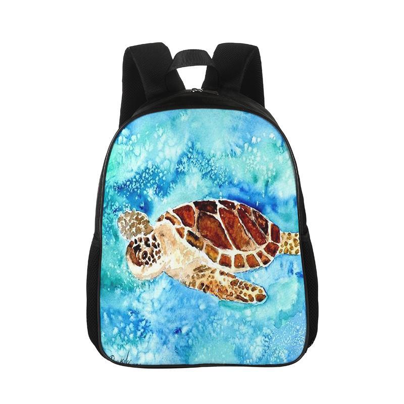 f936d35856cc Custom Backpack Ocean Series Pattern Print Cartoon Children Backpack  Colorful Pattern Lady Men Leisure Turtle