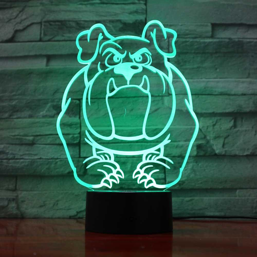 35f8cb01846 2019 ful Bulldog Pugs Dog Night Lights 3D Visual Baby Bedroom Led ...