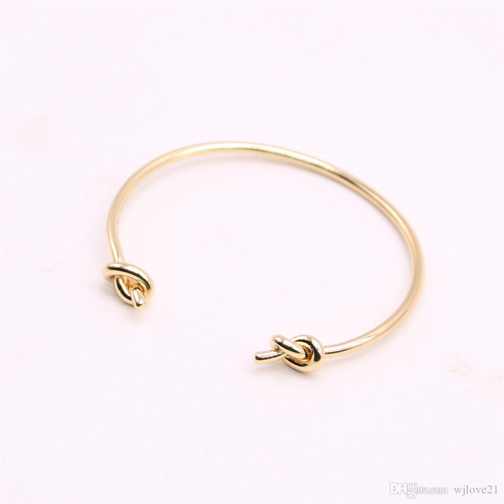 False knot bangles for girls Double cross knot women bangles Retail and wholesale mix