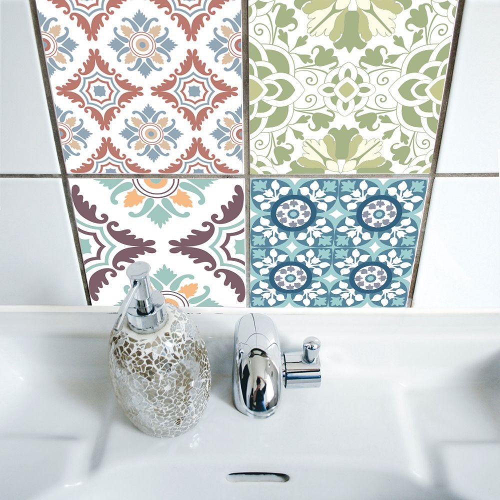 Funlife 15*15cm/20*20cm Pvc Waterproof Self Adhesive Wallpaper ...