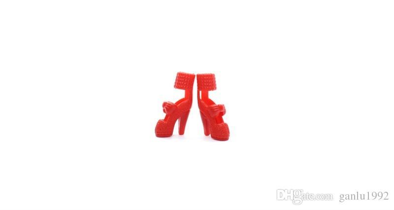 Accessoires de chaussures pour poupées Chaussures à talons hauts Bottes moyennes et courtes Cuisson Gâteau Usage général Poupée corps simple Accessoire 2 5sy W