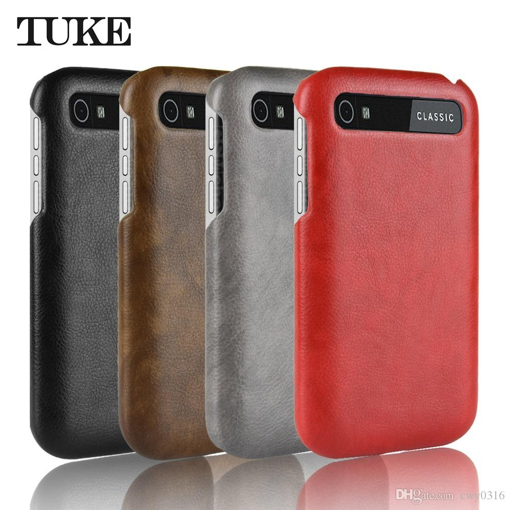 Tuke Forq20 Case Luxury Business Vintage Litch Pu Leather Hard Back Blackberry Q20 Classic Black Cover Forclassic Phone Buy Cell Phones From Cwy0316