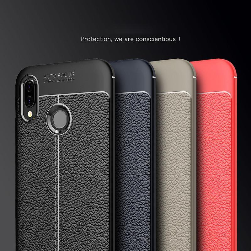 pretty nice baadc 26d8c For Huawei P20 Lite Case Luxury Ultra-Thin Shockproof Soft TPU Leather  Cases For Huawei P 20 Lite P20Lite 5.84 Coque Fundas waterproof