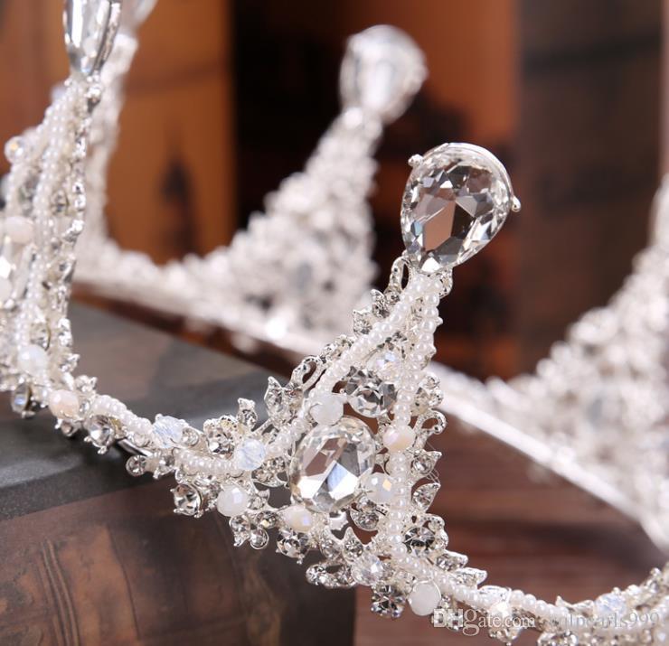 Yeni alaşım matkap elmas taç gelin taç taç şapkalar elbise aksesuarları