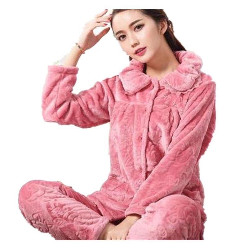 7fd3bc6a81 New Winter Pajama Women Flannel Animal Pajama Sets Female Sleepwear Warm  Plus Size Coral Fleece Christmas Gift 2XL Female Sleepwear Animal Pajamas  Set ...