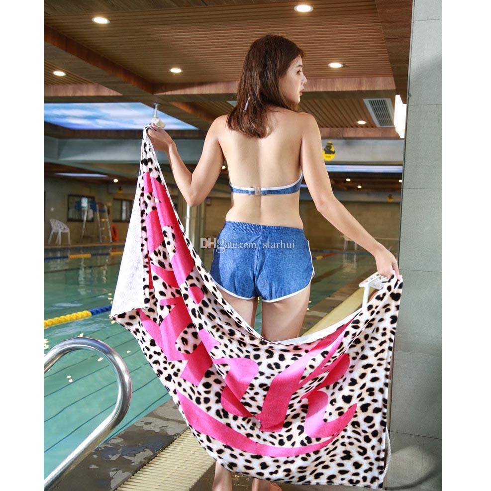 145 * 75 cm Toalla de playa suave Secado rápido al aire libre Deportes Natación Camping Baño Estera de yoga Manta Toallas de baño es WX9-523