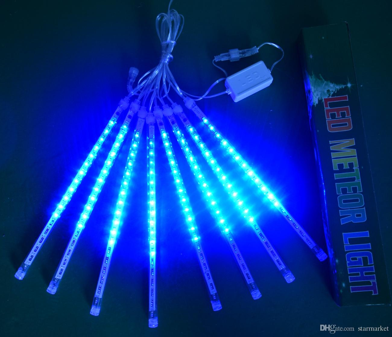 Double-sided Lighting 50CM Waterproof Led Meteor Shower Rain Tubes LED Christmas Lights Wedding Party Garden String Light Outdoor Decoration