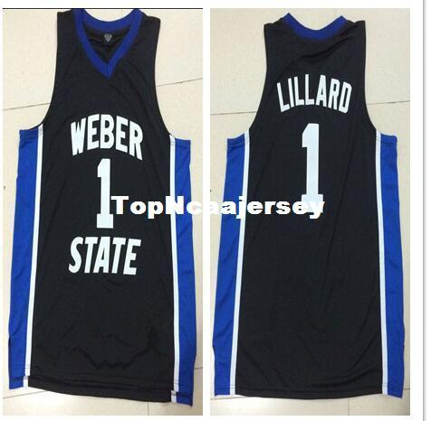 detailed look 6afc9 1af25 Cheap Weber State #1 Damian Lillard Custom Basketball Jersey New Materials  With Double Stitching custom all name and numbers stitched